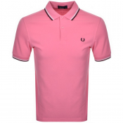 Fred Perry Twin Tipped Polo T Shirt Pink
