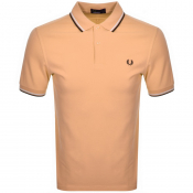 Fred Perry Twin Tipped Polo T Shirt Orange