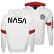 Alpha Industries Apollo 15 Hoodie White