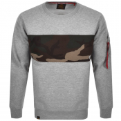 Product Image for Alpha Industries Camo Bar Sweatshirt Grey
