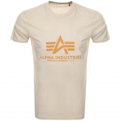 Alpha Industries Basic Logo T Shirt White