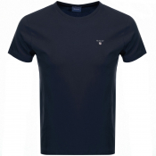 Gant Original T Shirt Navy