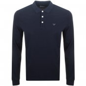 Emporio Armani Long Sleeved Polo T Shirt Navy