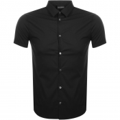 Product Image for Emporio Armani Short Sleeved Slim Fit Shirt Black