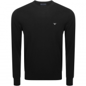 Emporio Armani Crew Neck Knit Jumper Black