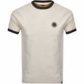 Product Image for Pretty Green Crew Neck Badge T Shirt Cream