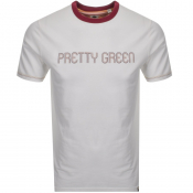 Product Image for Pretty Green Crew Neck Logo T Shirt White