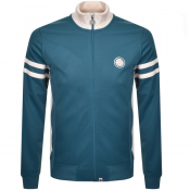 Pretty Green Full Zip Track Top Blue