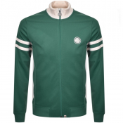 Pretty Green Full Zip Track Top Green