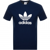 adidas Originals Trefoil T Shirt Navy
