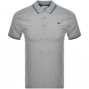 Product Image for Lacoste Sport Tipped Polo T Shirt Grey