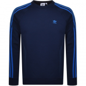 Product Image for adidas Originals Long Sleeve Sweatshirt Navy