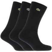 Product Image for Lacoste Sport Three Pack Socks Black