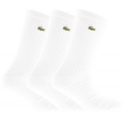 Lacoste Sport Three Pack Socks White