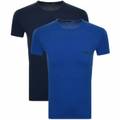 Product Image for Emporio Armani 2 Pack Crew Neck T Shirts Blue