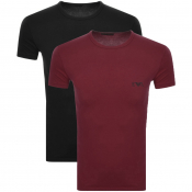 Product Image for Emporio Armani 2 Pack Crew Neck T Shirts Burgundy