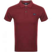 Paul And Shark Short Sleeved Polo T Shirt Burgundy