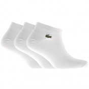 Lacoste Three Pack Socks White