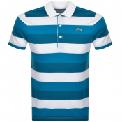 Lacoste Sport Polo Stripe T Shirt Blue