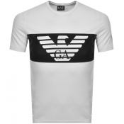 Product Image for EA7 Emporio Armani Logo Crew Neck T Shirt White