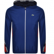 Product Image for Lacoste Sport Full Zip Hooded Jacket Blue