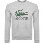 Lacoste Large Crocodile Sweatshirt Grey