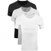 Lacoste Triple Pack Crew Neck T Shirt Black