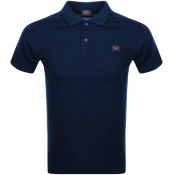 Paul And Shark Short Sleeved Polo T Shirt Navy