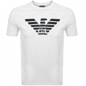 Product Image for Emporio Armani Crew Neck Logo T Shirt White