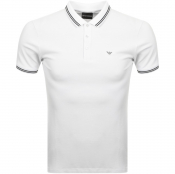 Emporio Armani Short Sleeved Polo T Shirt White