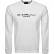 Product Image for Emporio Armani Crew Neck Logo Sweatshirt White