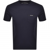 Product Image for Emporio Armani Pocket Logo T Shirt Navy