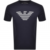 Product Image for Emporio Armani Logo T Shirt Navy