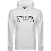 Product Image for Emporio Armani Pullover Logo Hoodie White
