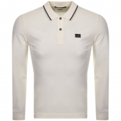 CP Company Long Sleeved Polo T Shirt White