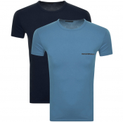 Product Image for Emporio Armani Lounge 2 Pack T Shirts Blue