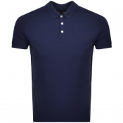 Emporio Armani Short Sleeved Polo T Shirt Navy