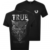 True Religion Wolf T Shirt Black