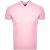 Emporio Armani Short Sleeved Polo T Shirt Pink