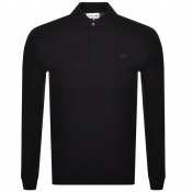 Lacoste Long Sleeved Polo T Shirt Black