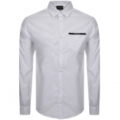 Emporio Armani Long Sleeved Logo Shirt White