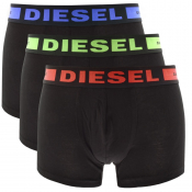 Diesel Underwear Kory 3 Pack Trunks Black