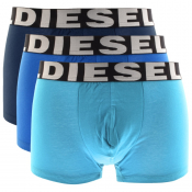 Diesel Underwear Shawn 3 Pack Trunks Blue
