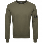 Product Image for CP Company Crew Neck Goggle Sweatshirt Green