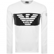 EA7 Emporio Armani Long Sleeved Logo T Shirt White