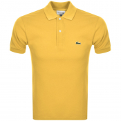 Lacoste Short Sleeved Slim Fit Polo T Shirt Yellow