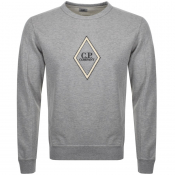 Product Image for CP Company Crew Neck Logo Sweatshirt Grey