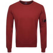 CP Company Crew Neck Goggle Sweatshirt Red