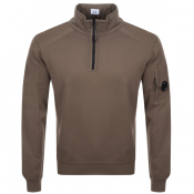 Product Image for CP Company Goggle Half Zip Sweatshirt Greem