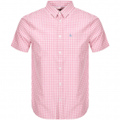 Product Image for Jack Wills Short Sleeved Gingham Shirt Pink